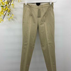 J CREW Martie Slim Cotton Crop Beige Pants size 00
